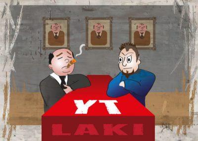"""AKT-lehti, kuvituskuva """"YT laki"""" artikkeliin"""