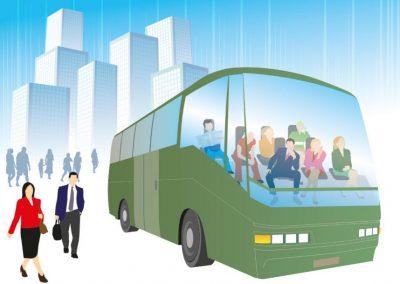 """AKT-lehti, artikkelin kuvitus """"bussi ilman kuskia"""""""