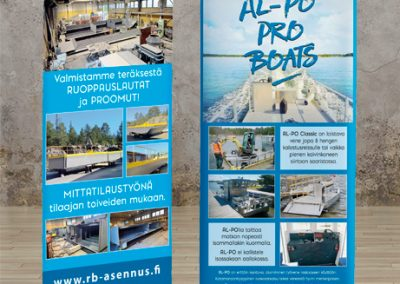 RB-asennus, roll-up