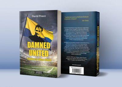 Peace: Damned United, kansi ja taitto, Kovasana Kustannus