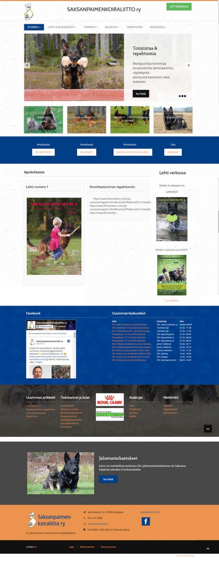 Saksanpaimenkoiraliitto ry, Joomla nettisivut