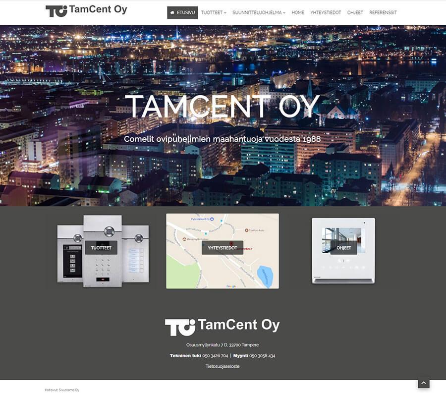 Tamcent, Joomla nettisivut